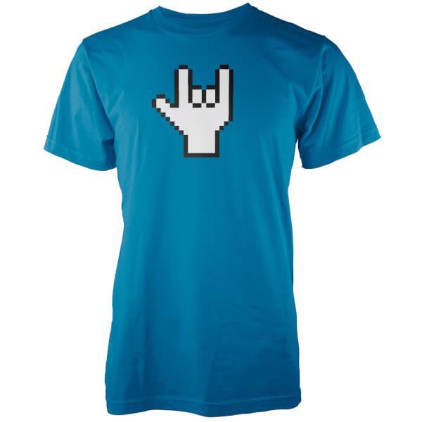 T-Shirt Homme Pixel Rock - Bleu