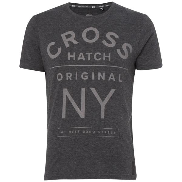 Crosshatch Men's Laramie T-Shirt - Charcoal Marl