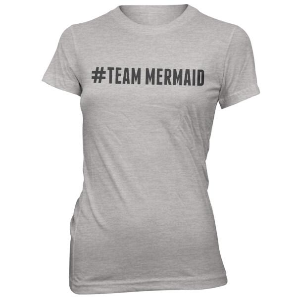 T-Shirt Femme Hashtag Team Mermaid - Gris