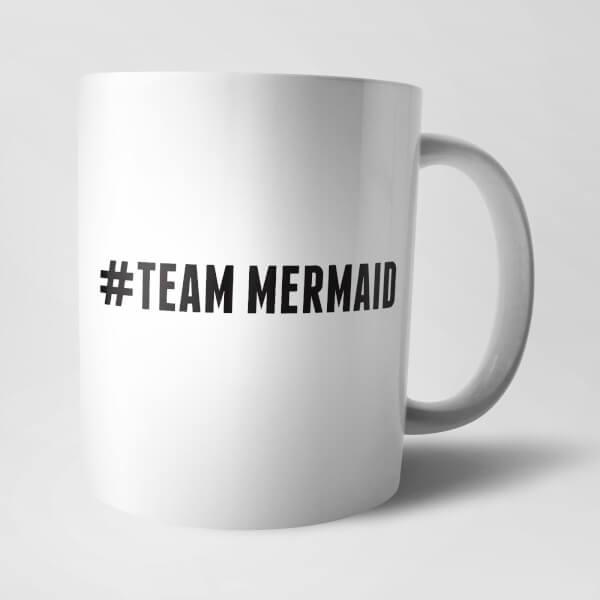 Tasse Hashtag Team Mermaid -Blanc