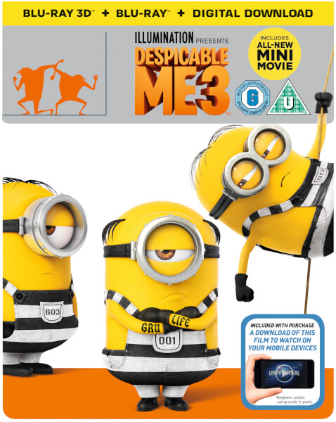 Despicable Me 3 3D (Includes 2D Version) - Zavvi Exclusive Limited Edition Steelbook
