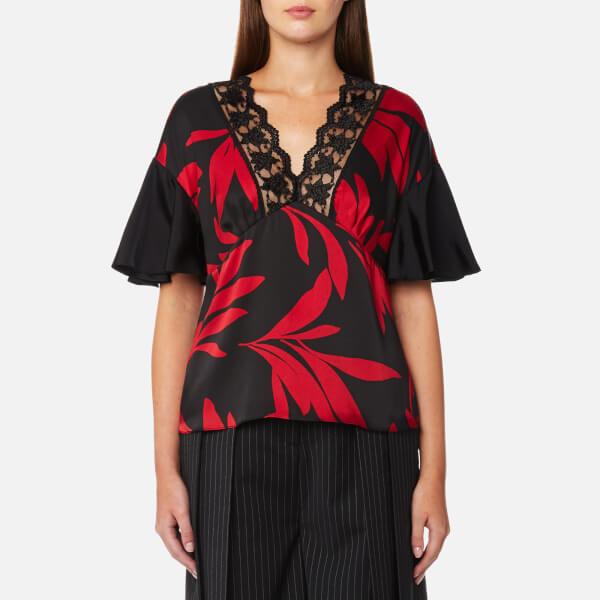 McQ Alexander McQueen Women's Ruched Sleeve Top - Darkest Black