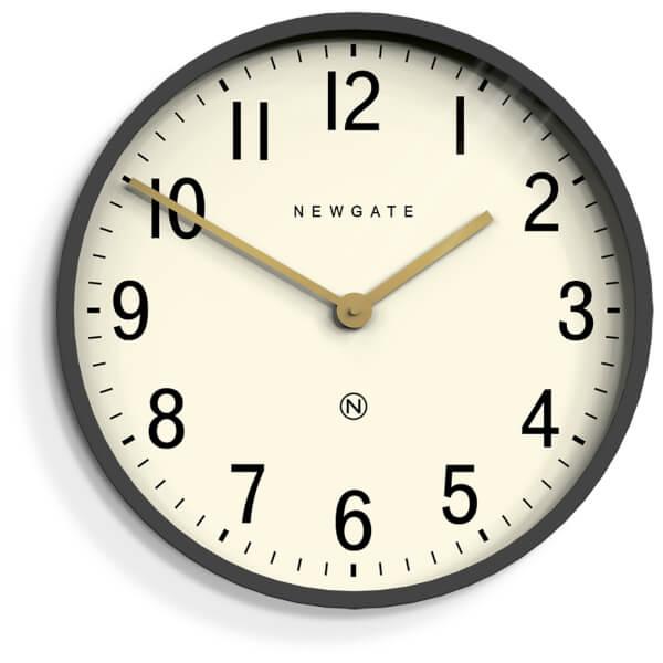 Newgate Mr Edwards Wall Clock Matte Blizzard Grey Free
