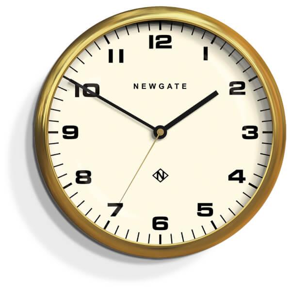 Newgate Chrysler Wall Clock - Radial Brass