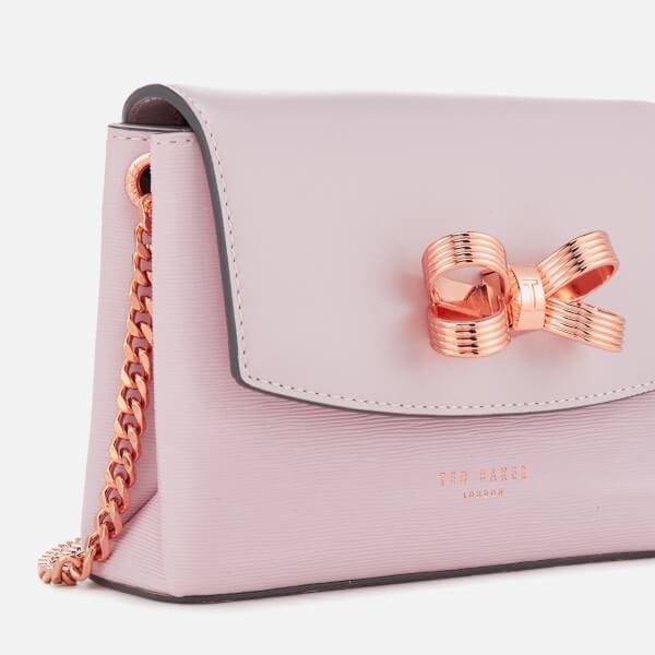 db5d6886c Ted Baker Women s Leorr Looped Bow Mini Cross Body Bag - Dusky Pink  Image 3