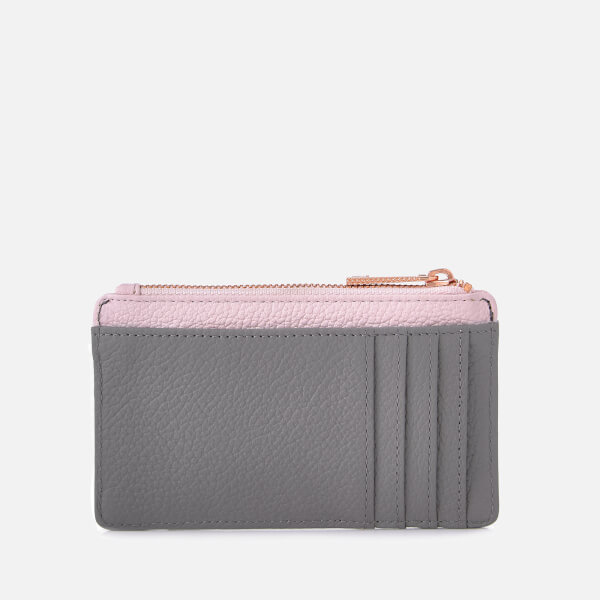6013353a9cd5e Ted Baker Women s Alica Zipped Card Holder - Mid Grey  Image 2