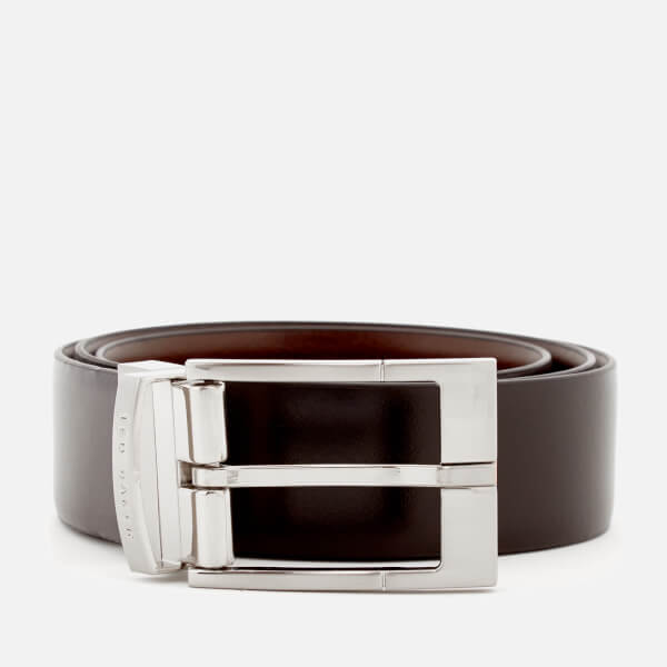 Ted Baker Men's Connary Reversible Prong Buckle Belt - Black