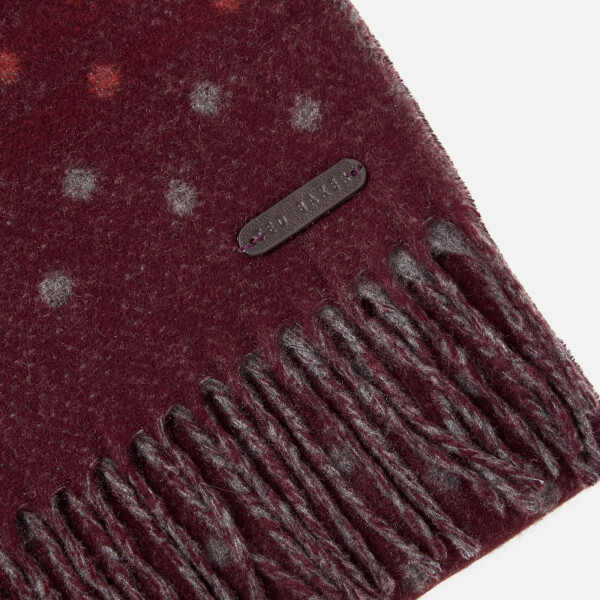 dec5bc73811e Ted Baker Men s Redpine Spot Scarf - Dark Red  Image 3