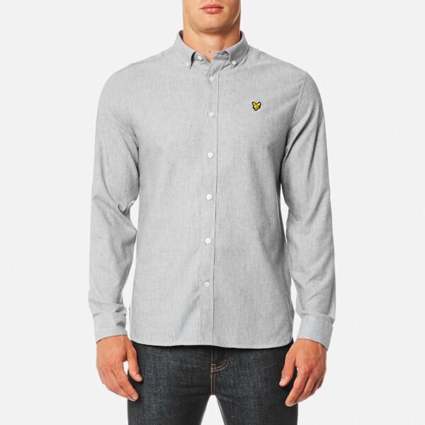 Lyle & Scott Men's Brushed Chambray Shirt - Mid Grey Marl