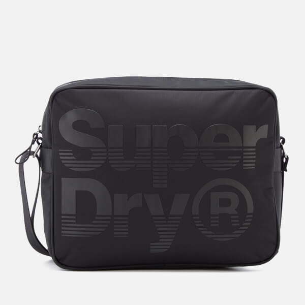 Superdry Men's Premium Lineman Messenger Bag - Black/Black