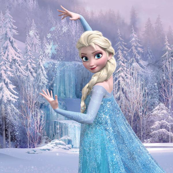 Disney Frozen Elsa Frozen Forest 30 x 30cm Canvas Print