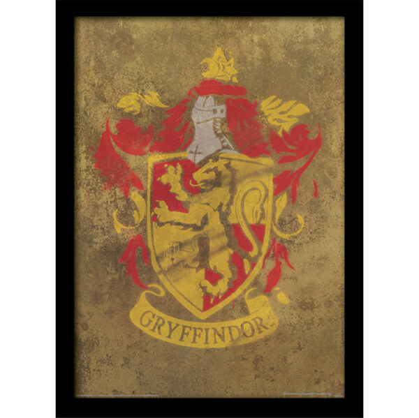 Affiche encadr e blason gryffondor harry potter 30 x 40 cm my geek box - Harry potter blason ...
