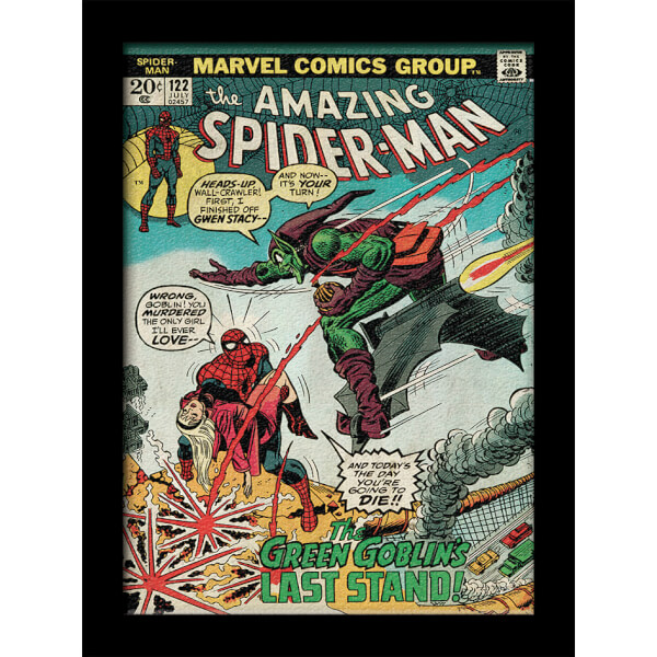 Affiche Marvel Comics Spider - Man Vs. Green Goblin 30 x 40cm - Gel Coat