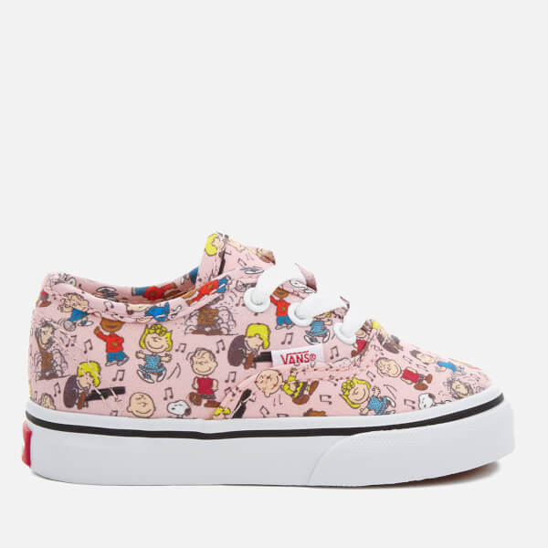 4667199b73 Vans X Peanuts Toddlers  Authentic Trainers - Dance Party Pink  Image 1