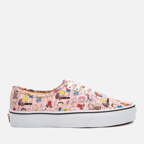 e3eb2abf9cd Vans X Peanuts Women s Authentic Trainers - Dance Party Pink  Image 1