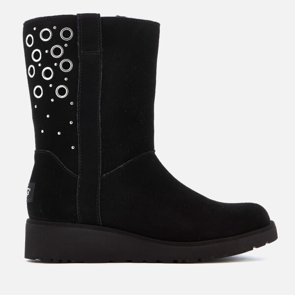 UGG Women's Madison Suede Sheepskin Boots - Black