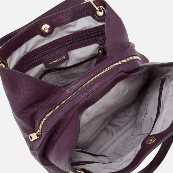 MICHAEL MICHAEL KORS Women s Raven Large Shoulder Tote Bag - Damson  Image 5 c043744283d7b