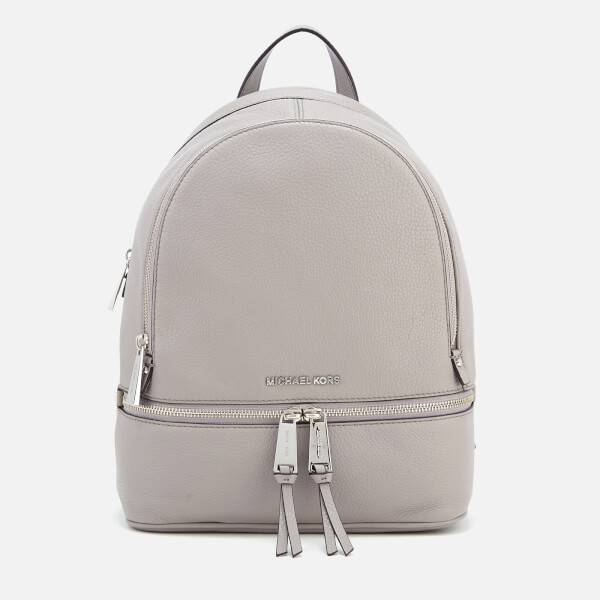 385b1a8ddae5 MICHAEL MICHAEL KORS Women's Rhea Zip Medium Backpack - Pearl Grey: Image 1