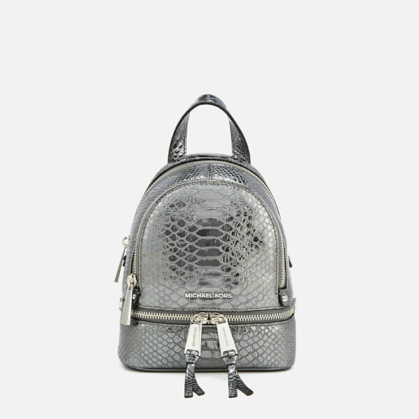 efa5c8bf8ff2 MICHAEL MICHAEL KORS Women s Rhea Zip Extra Small Messenger Backpack -  Pewter  Image 1