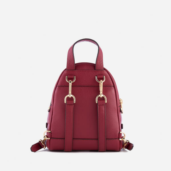 1bbccc2acad4 MICHAEL MICHAEL KORS Women's Rhea Zip Extra Small Messenger Backpack -  Mulberry: Image 2