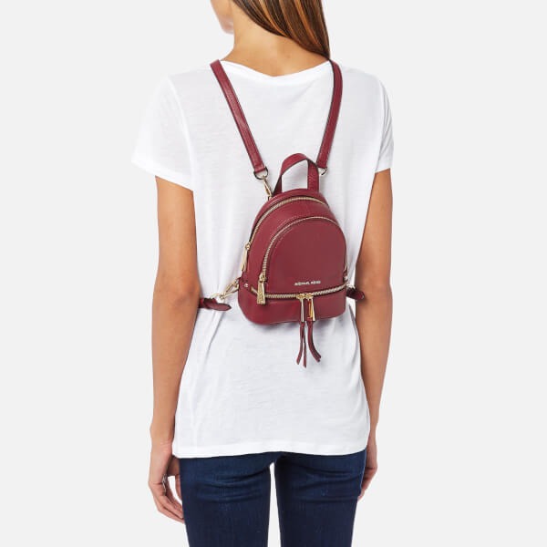 c3ee3849a745 ... where to buy michael michael kors womens rhea zip extra small messenger  backpack mulberry image 3