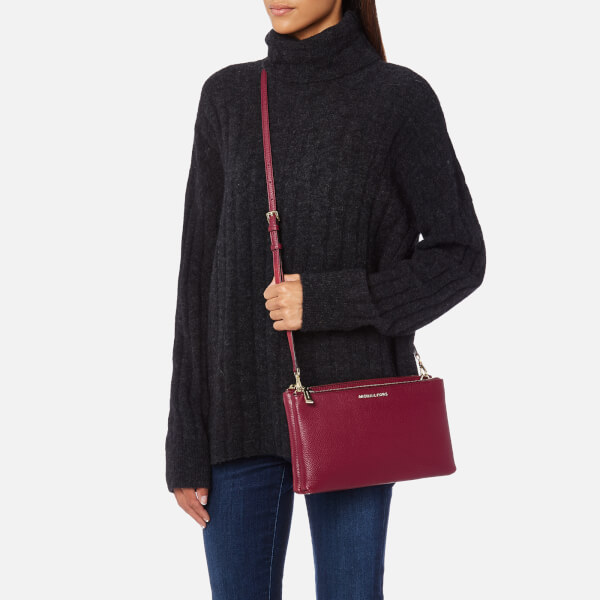 944bfedad6e7 MICHAEL MICHAEL KORS Women's Double Zip Cross Body Bag - Mulberry: Image 3