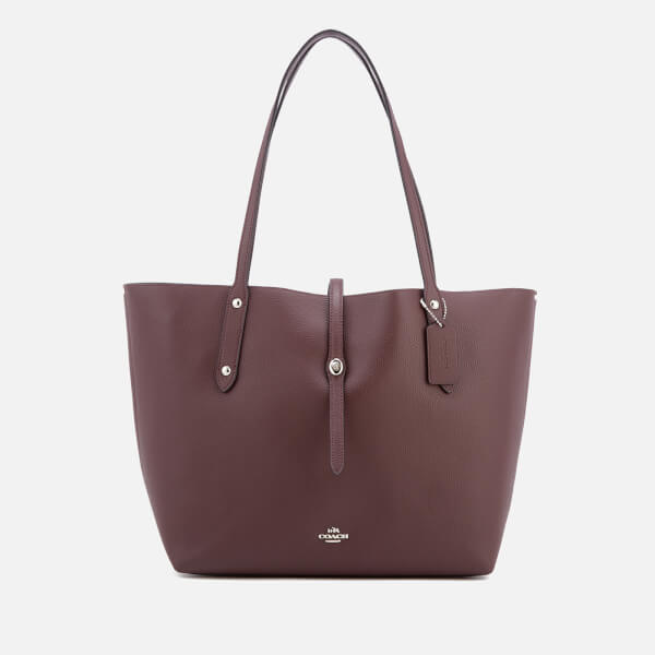 Coach Women S Market Tote Bag Oxblood Image 1