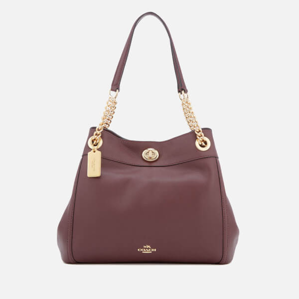 Coach Women S Turnlock E Tote Bag Oxblood