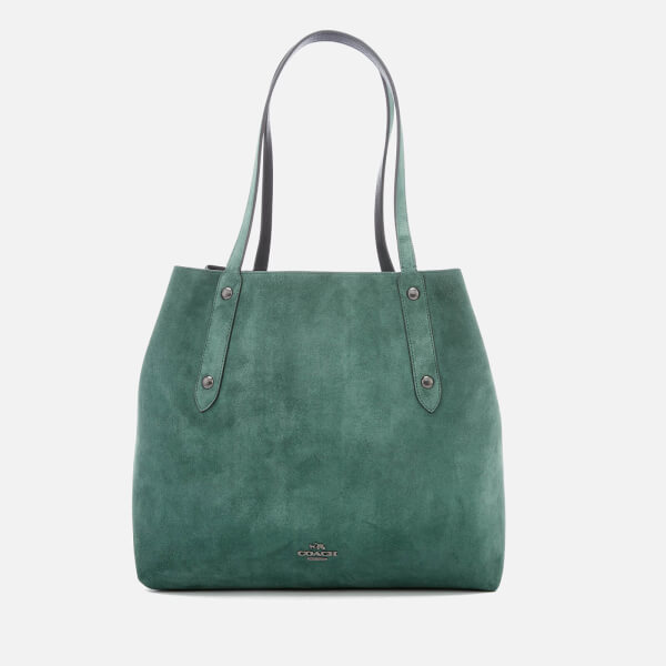 Tote - Market Tote Dark Turquoise/Dark Gunmetal - green - Tote for ladies Coach