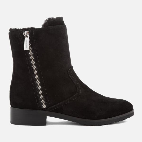MICHAEL MICHAEL KORS Women's Andi Suede/Faux Fur Biker Boots - Black