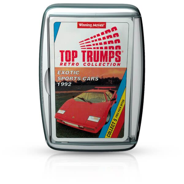 Retro Top Trumps Exotic Sports Cars IWOOT - Sports cars top trumps