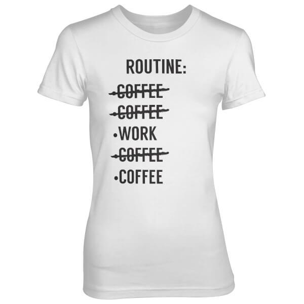 T-Shirt Femme Liste Routine - Blanc