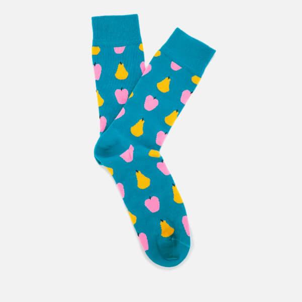 Happy Socks Mens Fruit Pattern Socks - Blue - UK 7.5-11.5