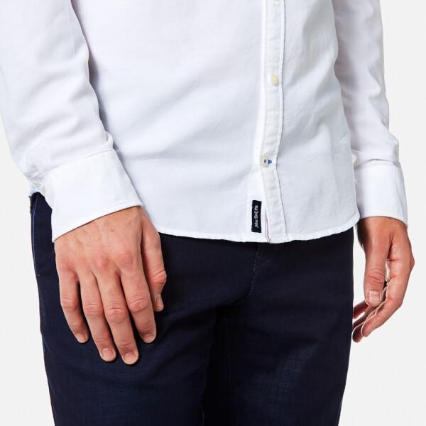 b5612fff1476da Tommy Hilfiger Men s Engineered Oxford Long Sleeve Shirt - Bright White   Image 5