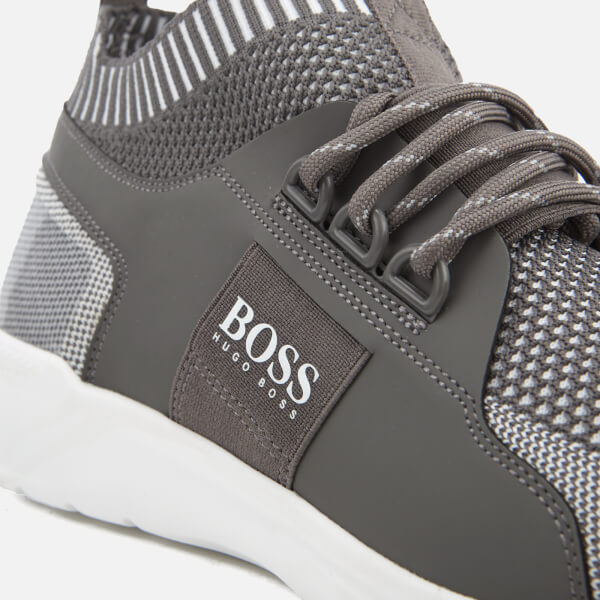 962d3f77253ffe BOSS Green Men s Extreme Knit Running Trainers - Light Pastel Grey  Image 6