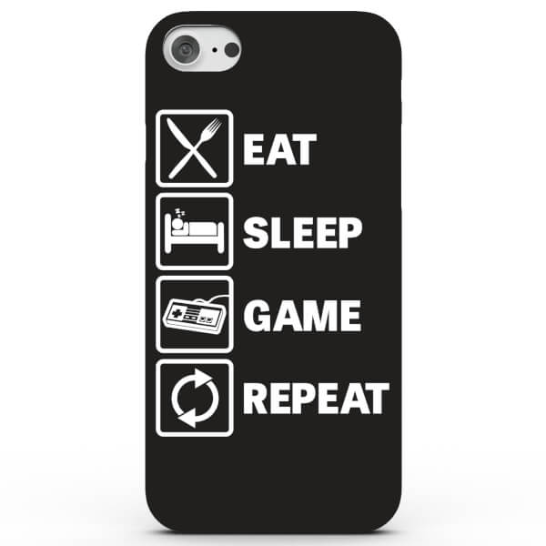 Eat Sleep Game Repeat Phone Case for iPhone & Android - 4 Colours