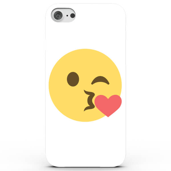 Coque iPhone & Android Emoji Bisou Cœur- 4 Couleurs