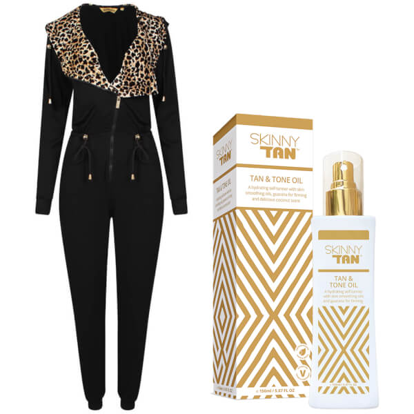 Bronzie Jumpsuit & SKINNY TAN Oil Bundle (Worth £77.98)