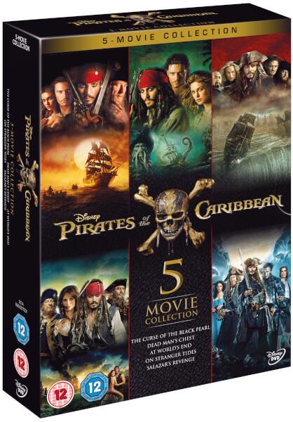 Pirates Of The Caribbean 1 5 Box Set Dvd Thehutcom