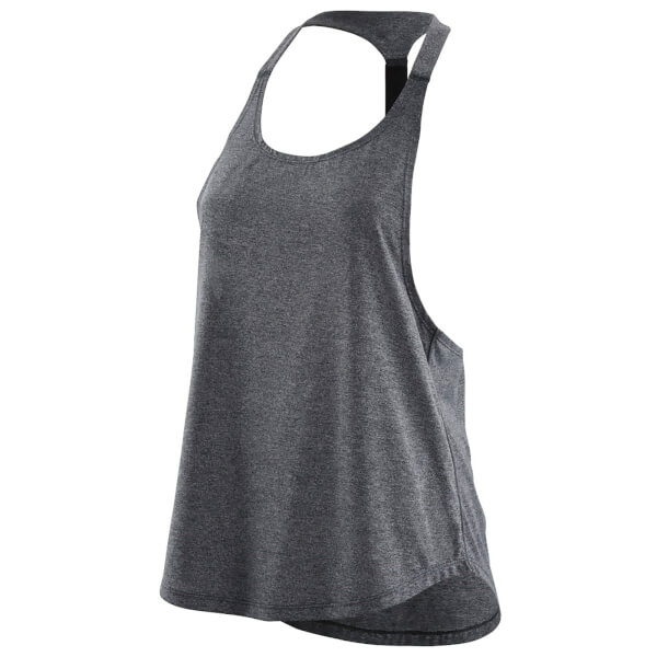 Skins Activewear Women's Remote T-Bar Tank Top - Black Marle