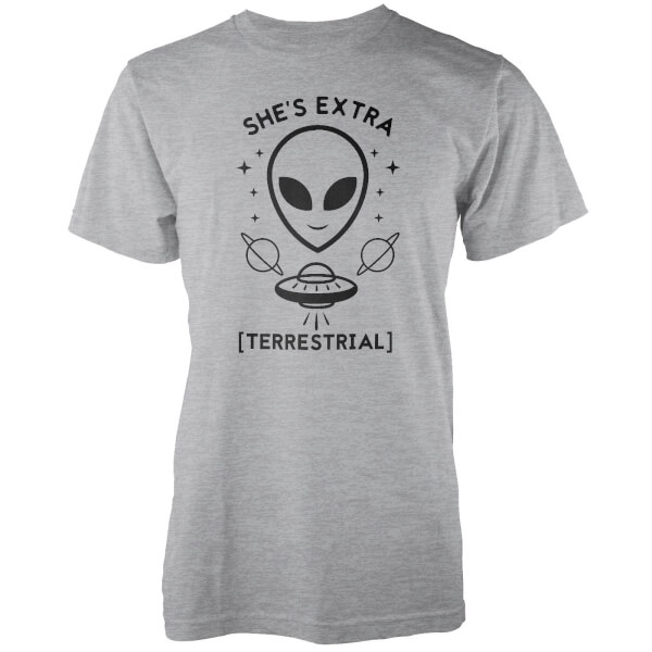 T-Shirt Homme She's Extra Terrestrial - Gris