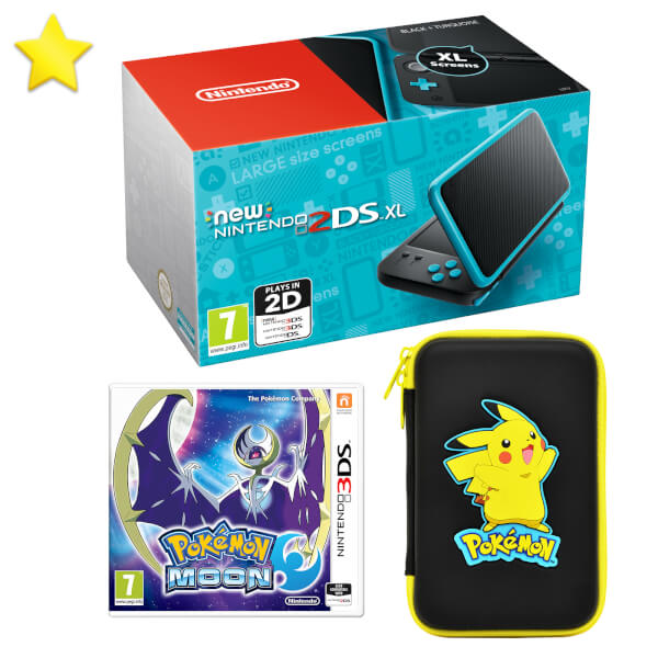 New nintendo 2ds xl pok mon moon pack nintendo uk store for Housse new 2ds xl