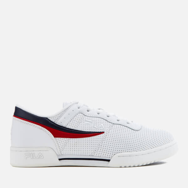 6c6d33240b5e FILA Men s Original Fitness Perforated Trainers - White FILA Navy FILA Red   Image