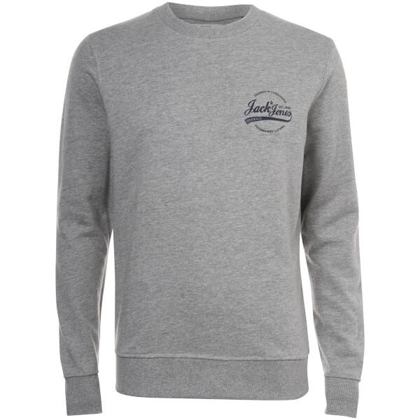 Jack & Jones Originals Men's Raf Small Logo Sweatshirt - Light Grey Marl