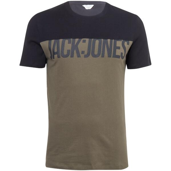 Jack & Jones Men's Core Char T-Shirt - Khaki/Black