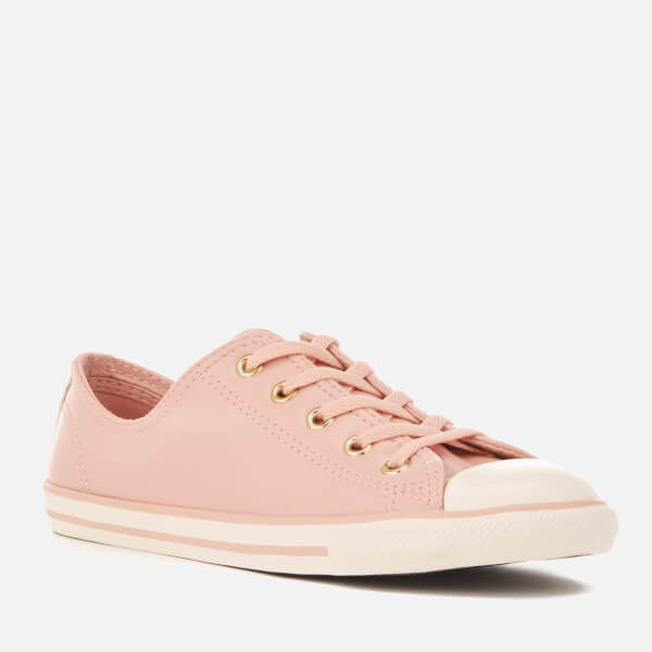 7252490b174e Converse Women s Chuck Taylor All Star Dainty Ox Trainers - Dusk Pink  Gold Egret