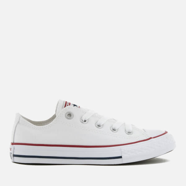 7b2eb0f6338b Converse Kids  Chuck Taylor All Star Seasonal Ox Trainers - Optical White   Image 1