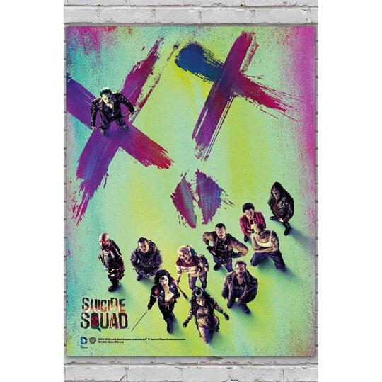 Suicide Squad Glass Poster - Suicide Squad XX (30 x 40cm)