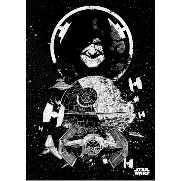 Star Wars Metal Poster - Star Wars Pilots Death Star (68 x 48cm)
