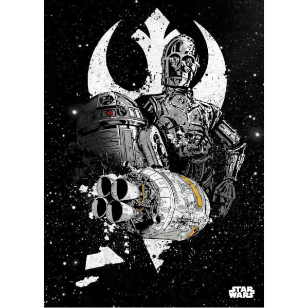 Star Wars Metal Poster - Star Wars Pilots Shuttle (68 x 48cm)